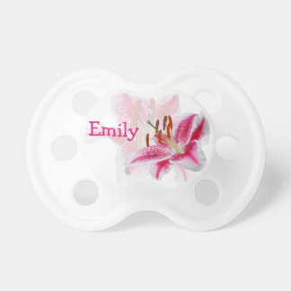 Stargazer Silhouette Personalized Girl Pacifier