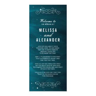 Stargazer Wedding Program 10 Cm X 24 Cm Invitation Card