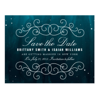 Stargazer Wedding Save the Date Postcard