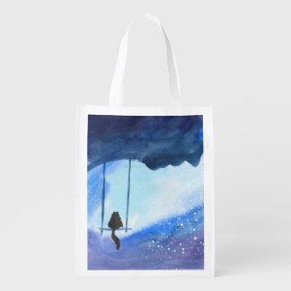Stargazing Kitty Reusable Bag