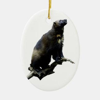 Stargazing Wolverine Christmas Ornament