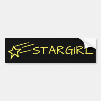 STARGIRL & Shooting Star Customizable Yellow/Black Bumper Sticker