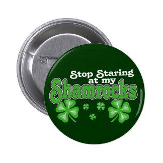 Staring at Shamrocks Button
