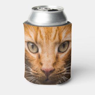 Staring Cat custom monogram can cooler