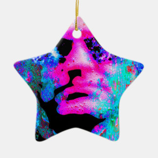 staring coloured head christmas tree ornaments