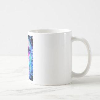 staring coloured head. mugs