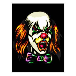 Staring Evil Clown Postcard