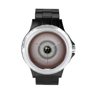 Staring Gray Eyeball Watch