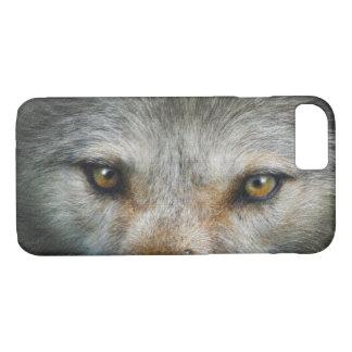 Staring Grey Wolf Eyes Wildlife Art iPhone 8/7 Case