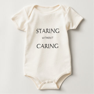 Staring without Caring - baby anthropologist Baby Bodysuit