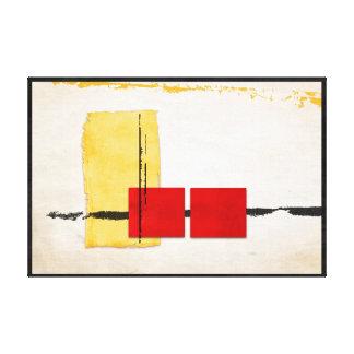 Stark Windowsill Minimalist Modern Yellow and Red Canvas Print