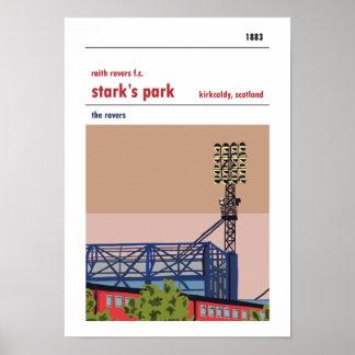 Stark's Park, Kirkcaldy. Haynes Manual Style Print