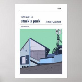 Stark's Park, Kirkcaldy. Main Stand Print. Poster