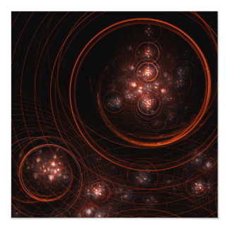 Starlight Abstract Art 5.25x5.25 Square Paper Invitation Card