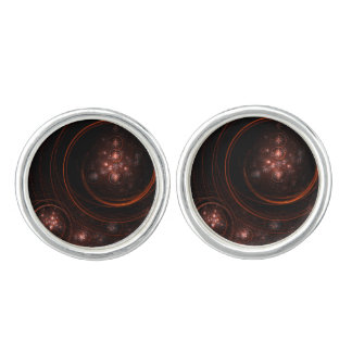 Starlight Abstract Art Silver Plated Cuff Links
