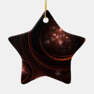 Starlight Abstract Art Star Ornament