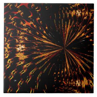 Starlight Burst Large Square Tile