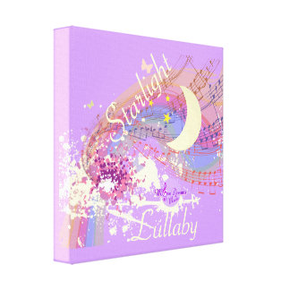 Starlight Lullaby Color Splash Stretched Canvas Stretched Canvas Print