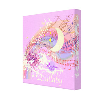 Starlight Lullaby Pink Wrapped Canvas Canvas Print