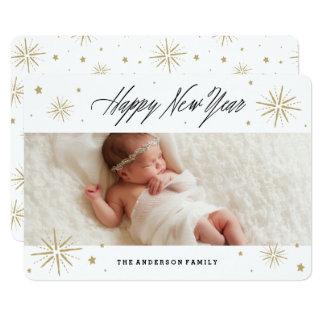 Starlight New Year Holiday Photo Card 13 Cm X 18 Cm Invitation Card