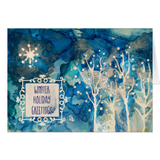 Starlight Winter Greetings Card