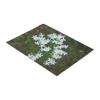 Starlike White Flowers Doormat
