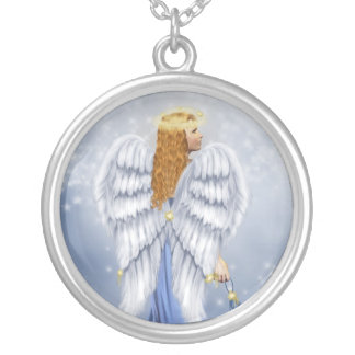 Starlit Angel Silver Plated Necklace