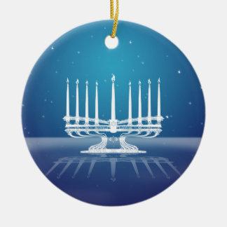 Starlit Menorah II Christmas Ornament