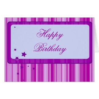Starred Birthday Card