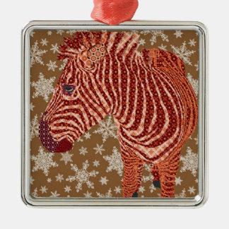 Starring Zeb Square Metal Christmas Ornament