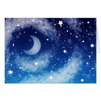 Starry Blue Night Sky Card