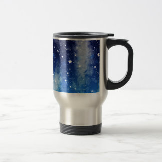 Starry Blue Night Sky Travel Mug