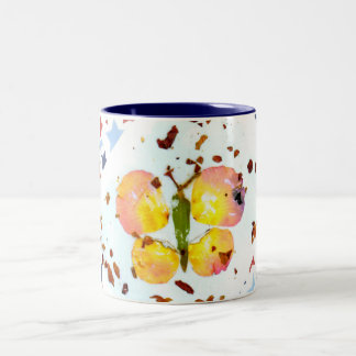 Starry Butterfly -15oz navy blue coffee mug