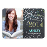 Starry Chalkboard Photo Graduation Announcements
