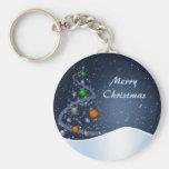 Starry Christmas Night Keychains