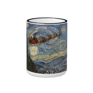 Starry Christmas Night Van Gogh Art Mug