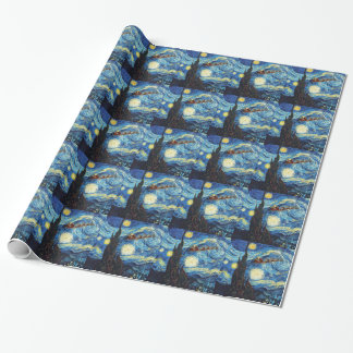 Starry Christmas Night Wrapping Paper