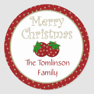 Starry Christmas Ornament Stickers