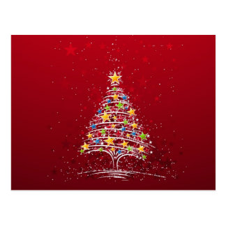 Starry Christmas Tree Postcard