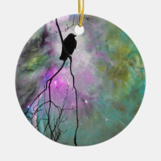 Starry Crow Christmas Ornament