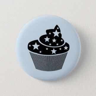 starry cupcake 6 cm round badge