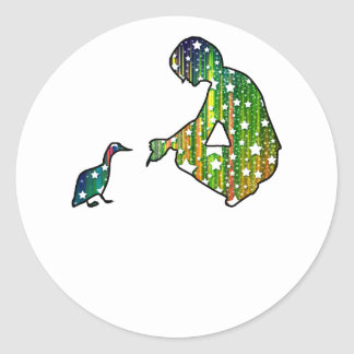 Starry Duck Silhouette Stickers