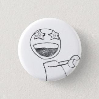 Starry Eyed 3 Cm Round Badge