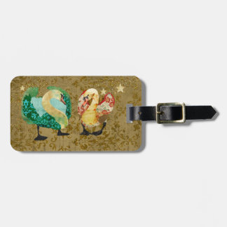 Starry Eyed Swans Luggage Tag