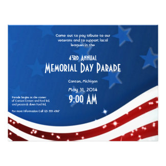Starry Flag Memorial Day Personalized Flyer