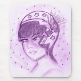 Starry Flapper in Purple Mouse Pad