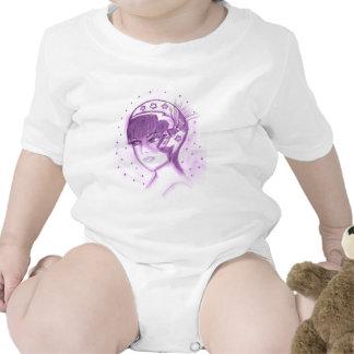 Starry Flapper in Purple Baby Bodysuit