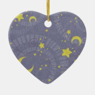 Starry Fortune Ceramic Heart Decoration