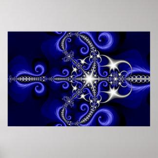 Starry Fractal Poster
