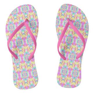 Starry Girl Blue Flip Flops